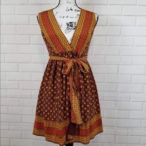 Anna Sui for Target V-neck fir & flare wrap dres